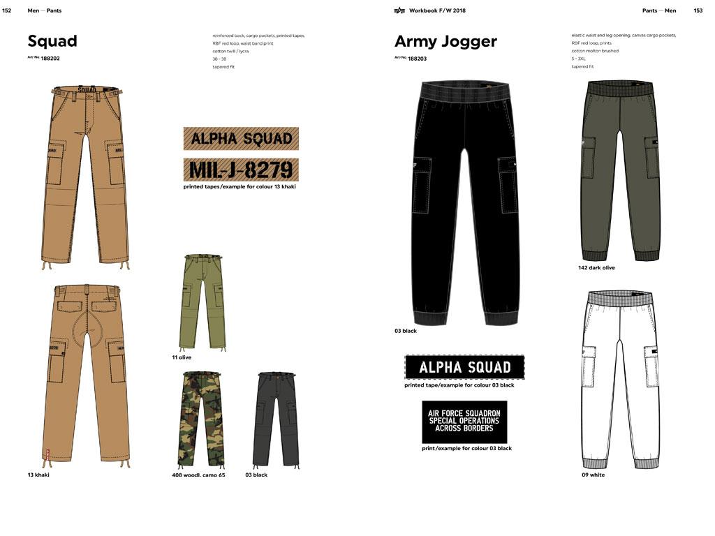 Spodnie i bojówki ALPHA INDUSTRIES