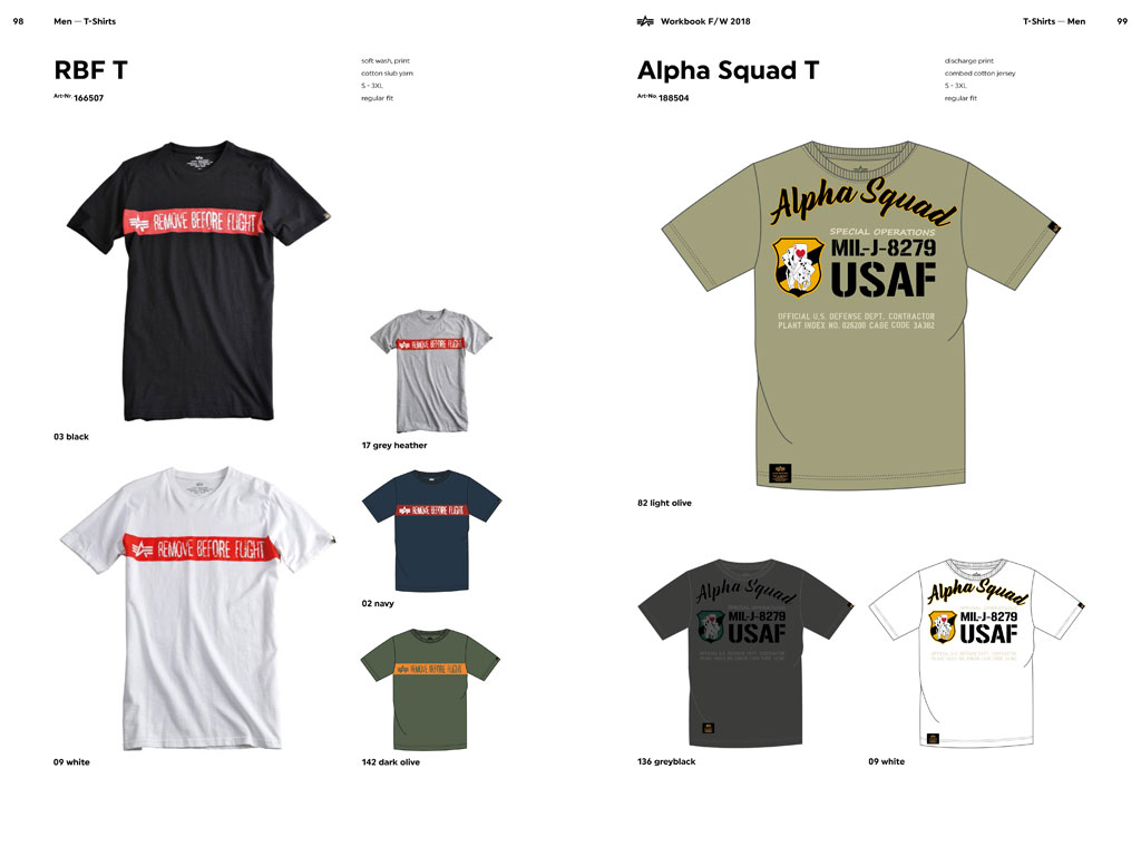 T-shirty i koszulki ALPHA INDUSTRIES